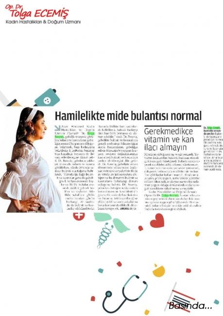 Hamilelikte Mide Bulantısı Normal