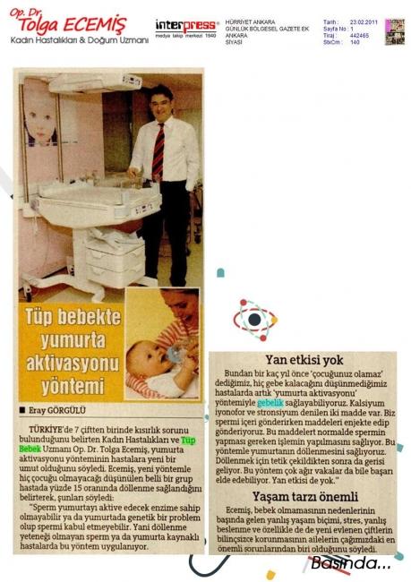 Tüp bebekte yumurta aktivasyonu yöntemi