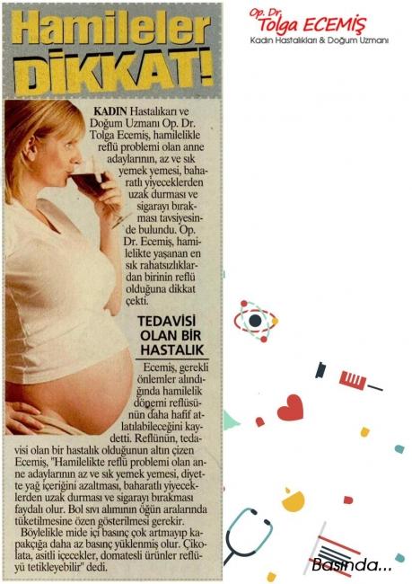 Hamileler Dikkat