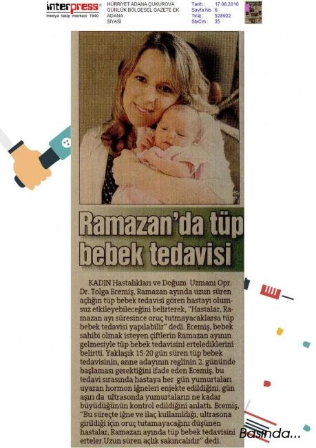 Ramazanda tüp bebek tedavisi