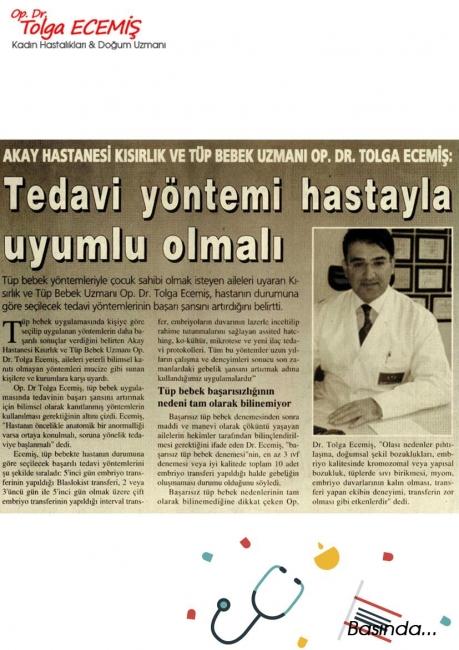 Tedavi Yöntemi Hastayla Uyumlu Olmalı