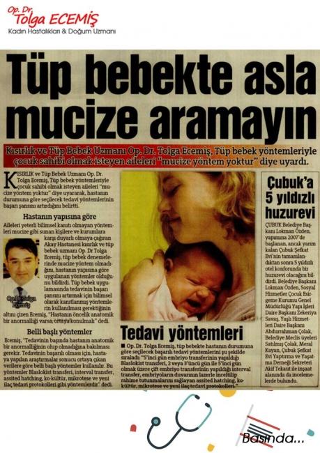 Tüp Bebekte Asla Mucize Aramayın